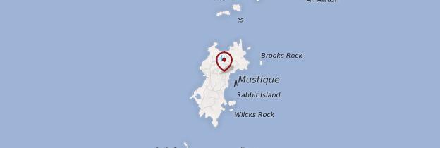 Carte Île Moustique - Saint-Vincent-et-les-Grenadines