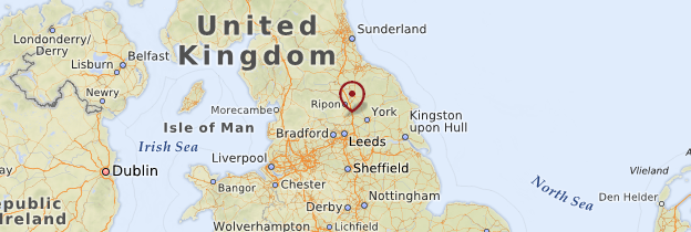 Carte Yorkshire - Angleterre