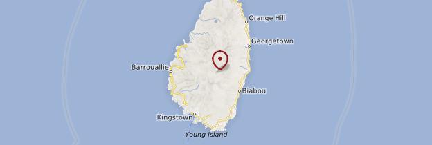 Carte Saint-Vincent - Saint-Vincent-et-les-Grenadines