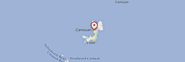 Carte Île Canouan - Saint-Vincent-et-les-Grenadines