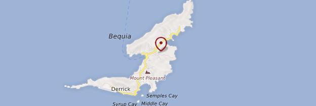 Carte Île Bequia - Saint-Vincent-et-les-Grenadines