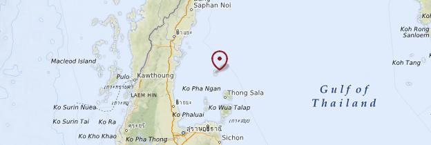 Carte Golfe de Thaïlande - Thaïlande