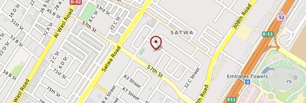 Carte Al Satwa - Dubaï
