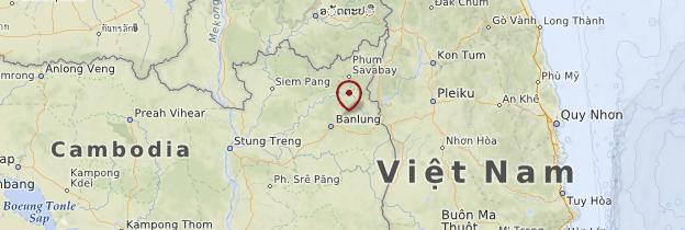 Carte Ratanakiri et Stung Treng - Cambodge