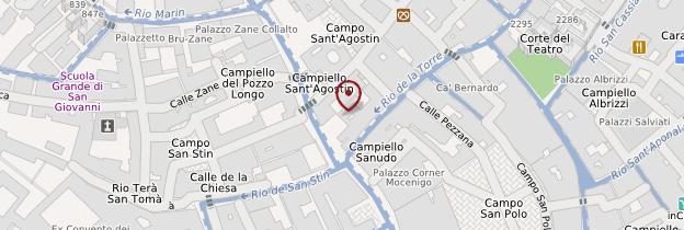 Carte San Polo et Santa Croce - Venise