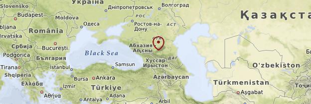 Carte Caucase - Russie