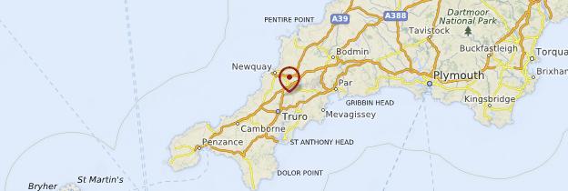 Carte Cornouailles - Angleterre
