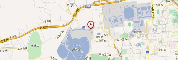 Carte Palais d'Été (Yiheyuan) - Pékin (Beijing)