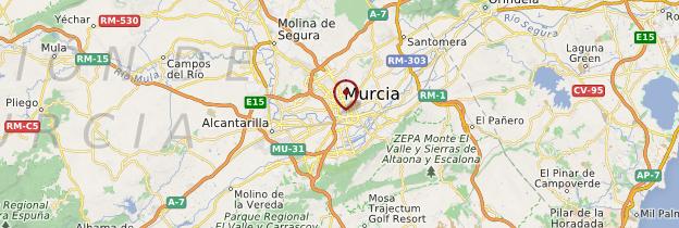 Carte Région de Murcie - Espagne