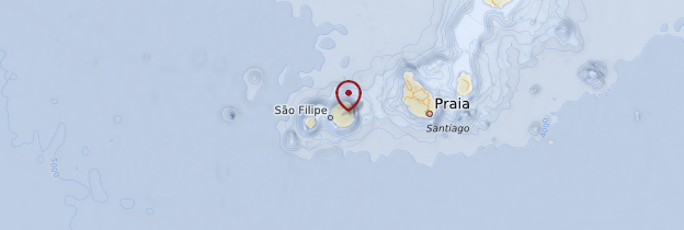 Carte Île de Fogo - Cap-Vert