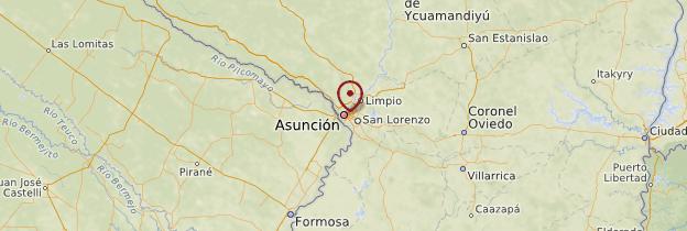 Carte Asunción - Paraguay
