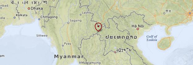 Carte Triangle d'or - Birmanie