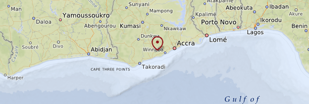 Carte Région Centrale - Ghana