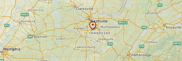 Carte Tennessee - États-Unis