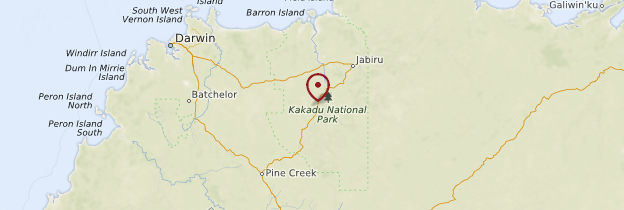 Carte Kakadu National Park - Australie