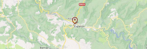 Carte Espalion - Midi toulousain - Occitanie
