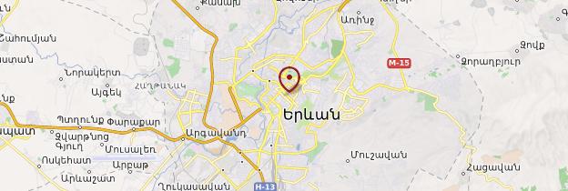 Carte Erevan - Arménie