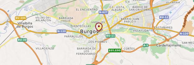 Carte Burgos - Espagne
