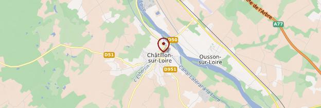 Carte Châtillon-sur-Loire - Châteaux de la Loire