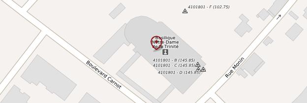 Carte Basilique Notre-Dame-de-la-Trinité - Châteaux de la Loire