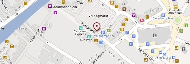 Carte Vrijdagmarkt (marché du Vendredi) - Belgique