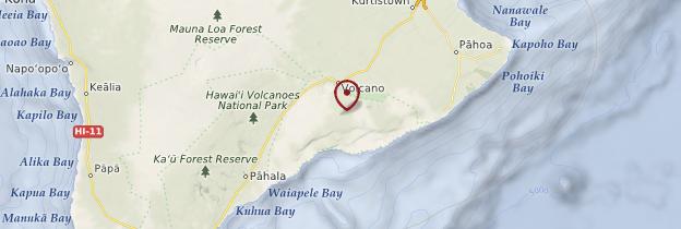 Carte Hawaii Volcanoes National Park - Hawaii