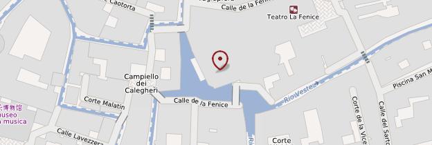 Carte Théâtre de la Fenice - Venise