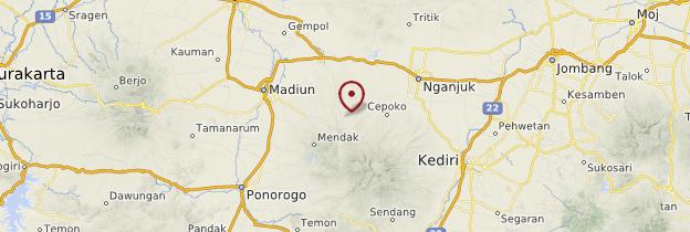 Carte Batok (volcan) - Indonésie