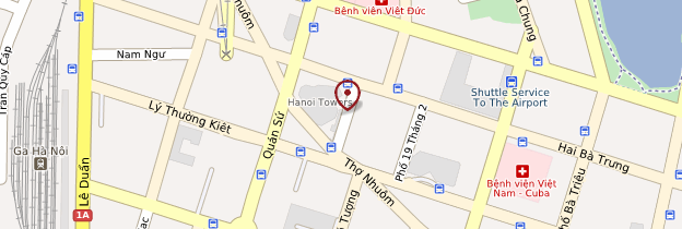 Carte Maison Centrale de Hanoi - Vietnam