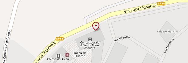 Carte Duomo de Cortona - Toscane