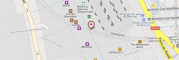 Carte Saint Pancras Station - Londres
