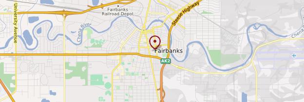 Carte Fairbanks - Alaska