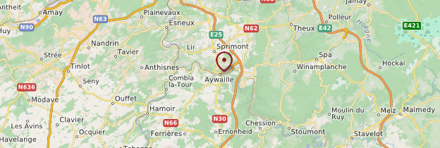 Carte Aywaille - Belgique