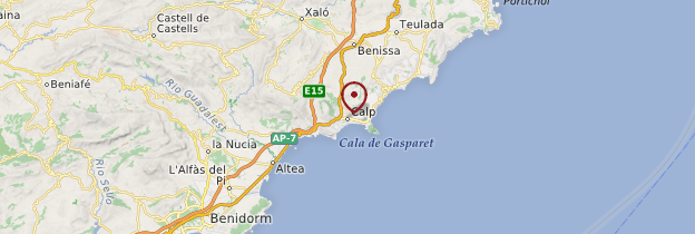 Carte Calpe - Espagne