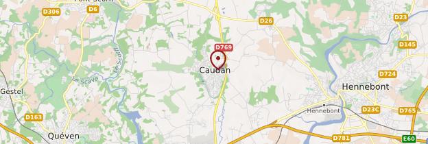 Carte Caudan (Kaodan) - Bretagne