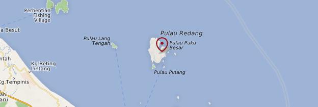 Carte Pulau Redang - Malaisie
