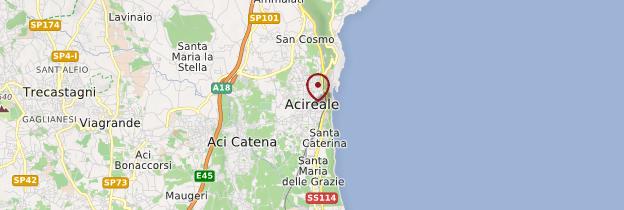 Carte Acireale - Sicile