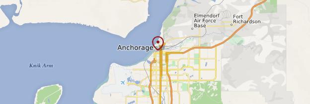 Carte Anchorage - Alaska