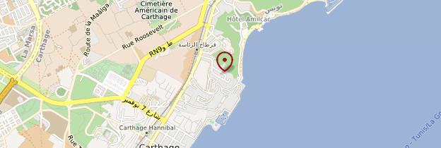Carte Thermes d'Antonin - Tunisie