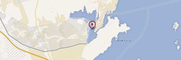 Carte Mer intérieure (Inland Sea, Khor al-Adaid) - Qatar