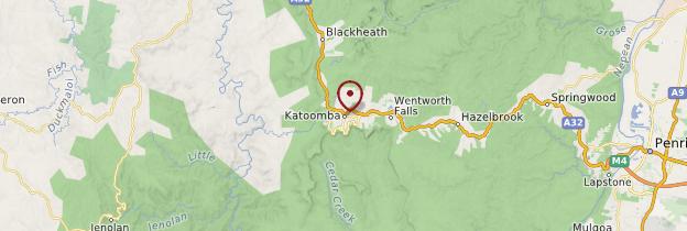 Carte Katoomba - Australie