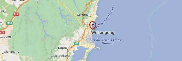 Carte Wollongong - Australie
