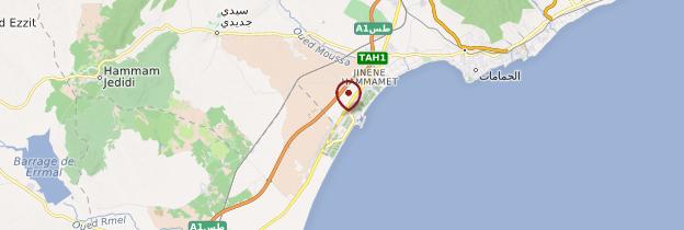 Carte Yasmine Hammamet - Tunisie