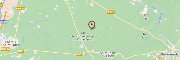 Carte Forêt de Compiègne - Picardie