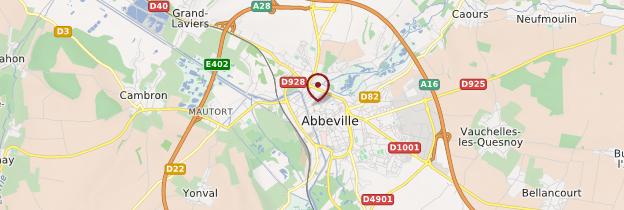 Carte Abbeville - Picardie