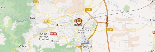 Carte Riom - Auvergne