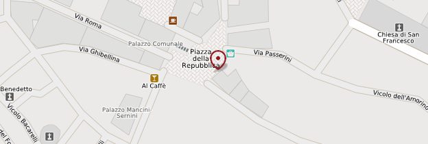 Carte Piazza della Repubblica de Cortona - Toscane