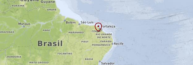 Carte Ceará, Piaui et Rio Grande do Norte - Brésil