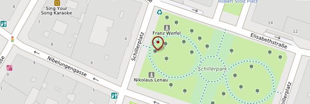 Carte Schillerplatz - Vienne