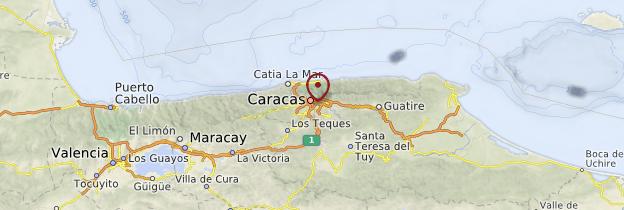 Carte Caracas - Venezuela